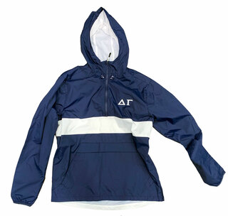 Delta Gamma Embroidered Zipped Pocket Anorak - LIMITED QTY