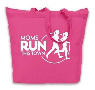 Moms Runs This Town Tote Bag