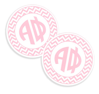 Sorority Monogram Bumper Sticker