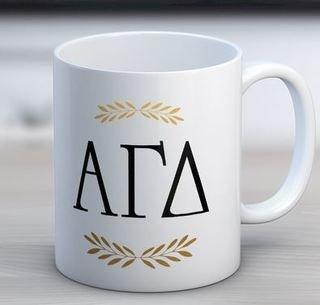 Alpha Gamma Delta Letter Coffee Mug