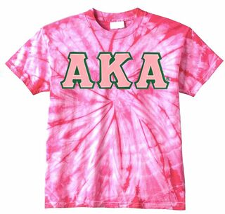 Alpha Kappa Alpha Lettered Tie-Dye t-shirts for only $25!