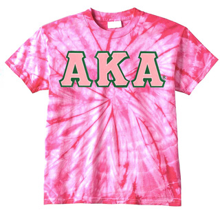 DISCOUNT-Alpha Kappa Alpha Lettered Tie-Dye t-shirts for only $30!