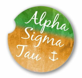 Alpha Sigma Tau Sandstone Car Cup Holder Coaster