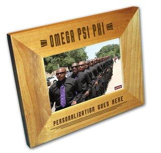"Omega Psi Phi 4"" x 6"" Stripes  Custom Picture Frame"
