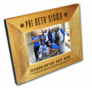 "Phi Beta Sigma 4"" x 6"" Stripes  Custom Picture Frame"