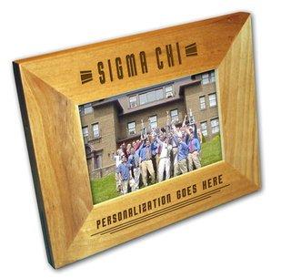"Sigma Chi 4"" x 6"" Stripes  Custom Picture Frame"