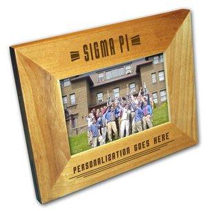 "Sigma Pi 4"" x 6"" Stripes  Custom Picture Frame"