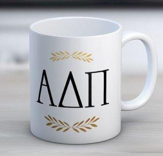 Alpha Delta Pi Letter Coffee Mug