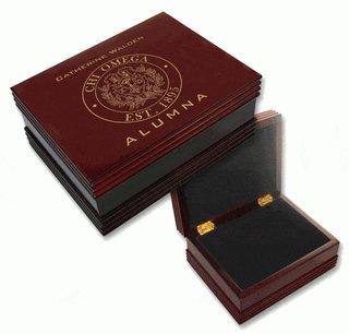 Chi Omega Alumna Wooden Keepsake Box