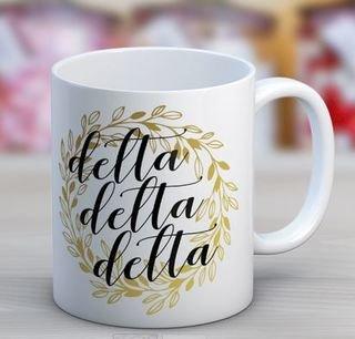 Delta Delta Delta Wreath Coffee Mug
