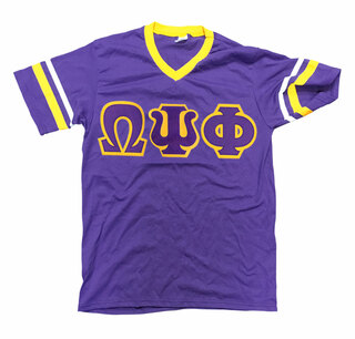 DISCOUNT-Omega Psi Phi Jersey W/ Custom Sleeves
