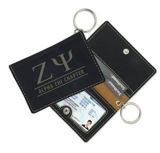 Zeta Psi Leatherette ID Key Holders