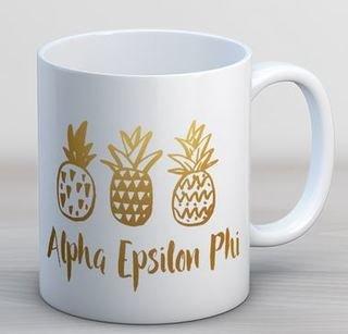 Alpha Epsilon Phi Pineapple Coffee Mug