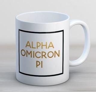 Alpha Omicron Pi Faux Foil Coffee Mug