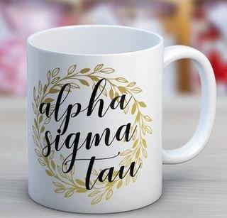 Alpha Sigma Tau Wreath Coffee Mug