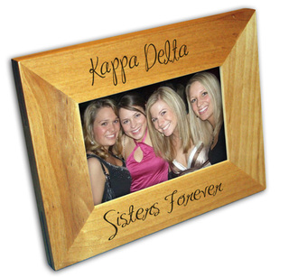 Sorority Script Wood Picture Frame