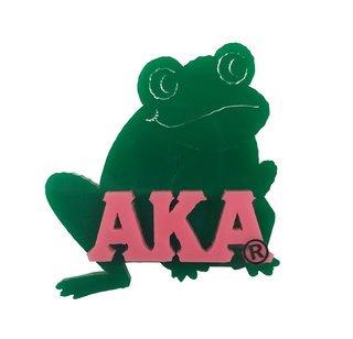 Alpha Kappa Alpha Acrylic Symbol Pin, Frog