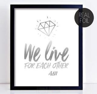 Alpha Delta Pi Motto Foil Print