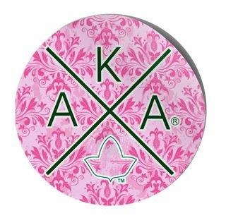 Alpha Kappa Alpha Well Balanced Round Decals