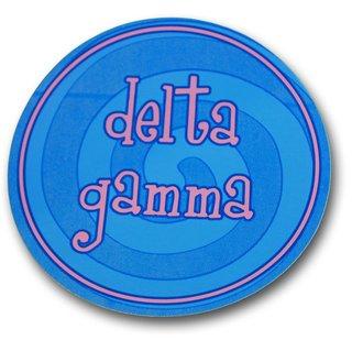 Delta Gamma Round Sticker