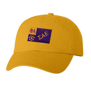 CLOSEOUT - Sigma Alpha Epsilon Flag Patch Baseball Hat