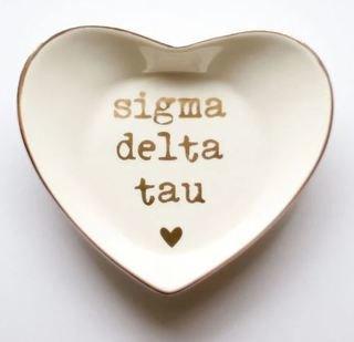 Sigma Delta Tau Ceramic Ring Dish
