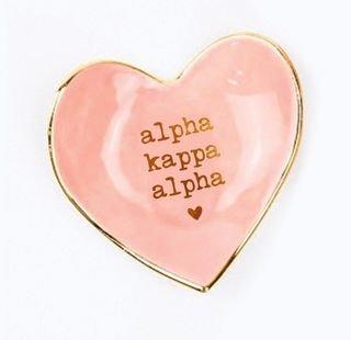 Alpha Kappa Alpha Ceramic Ring Dish