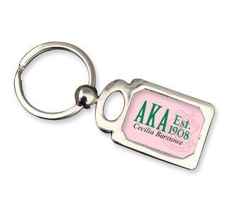 Alpha Kappa Alpha Chrome Crest Key Chain