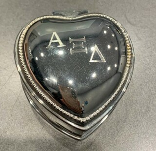 New Super Savings - Alpha Xi Delta Heart Jewlery Holder - MIRROR