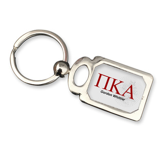 Pi Kappa Alpha Chrome Crest Key Chain
