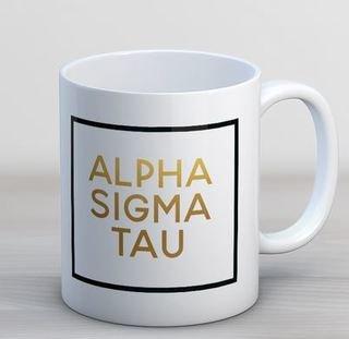 Alpha Sigma Tau Faux Foil Coffee Mug