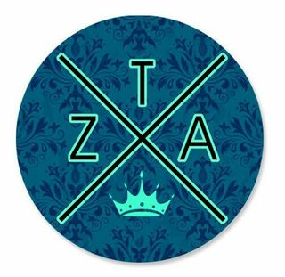 Zeta Tau Alpha Well Balanced Round Decals