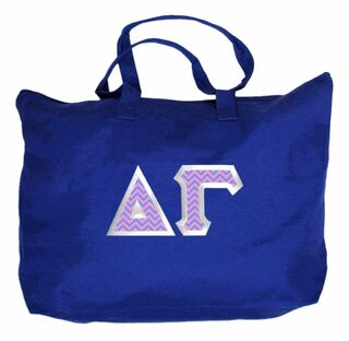 $19.99 Delta Gamma Custom Satin Stitch Tote Bag
