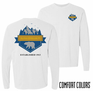 Alpha Epsilon Pi Big Bear Long Sleeve T-shirt - Comfort Colors