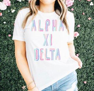 Alpha Xi Delta Tinsel Tee