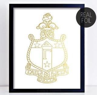 Delta Gamma Crest - Shield Foil Print