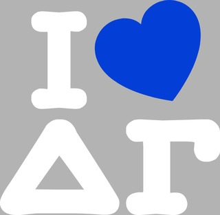 Delta Gamma I Love Sticker