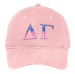 Delta Gamma Two Tone Letter Hat