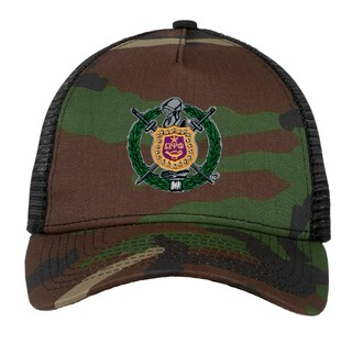 DISCOUNT-Omega Psi Phi Crest - Shield Camouflage New Era
