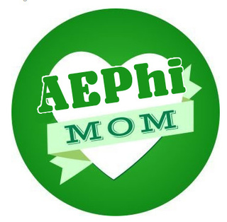 Alpha Epsilon Phi Mom Round Decals