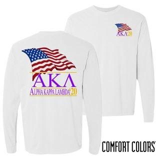 Alpha Kappa Lambda Patriot Long Sleeve T-shirt - Comfort Colors