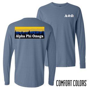 Alpha Phi Omega Outdoor Long Sleeve T-shirt - Comfort Colors