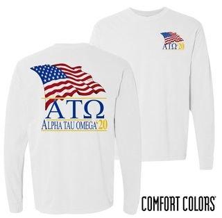 Alpha Tau Omega Patriot Long Sleeve T-shirt - Comfort Colors