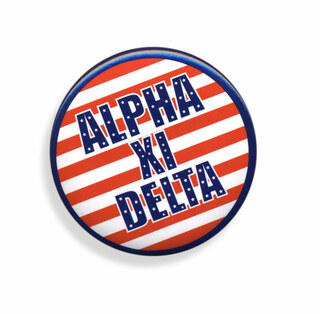Alpha Xi Delta Patriotic USA Button