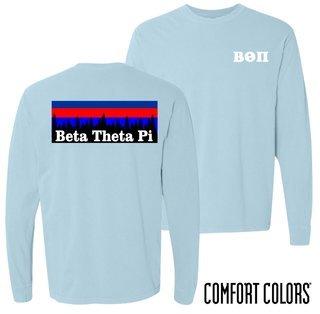 Beta Theta Pi Outdoor Long Sleeve T-shirt - Comfort Colors
