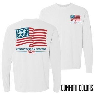 Beta Theta Pi Old Glory Long Sleeve T-shirt - Comfort Colors