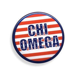 Chi Omega Patriotic USA Button