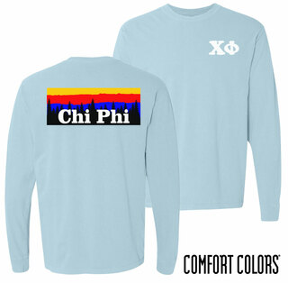 Chi Phi Outdoor Long Sleeve T-shirt - Comfort Colors