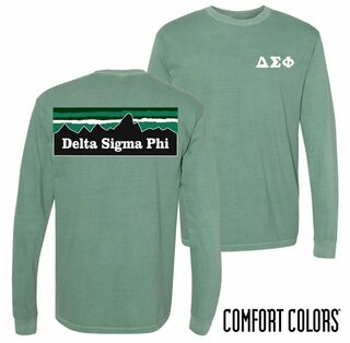 Comfort Colors Fraternity & Sorority Mountain Long Sleeve Shirt