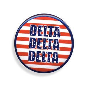 Delta Delta Delta Patriotic USA Button